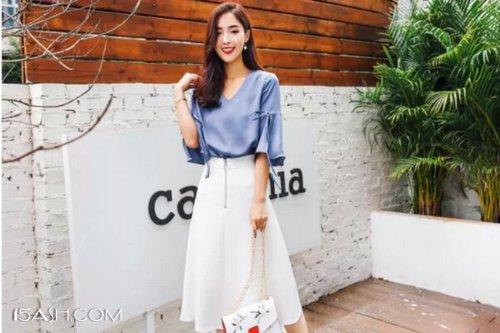 纯色半身裙
