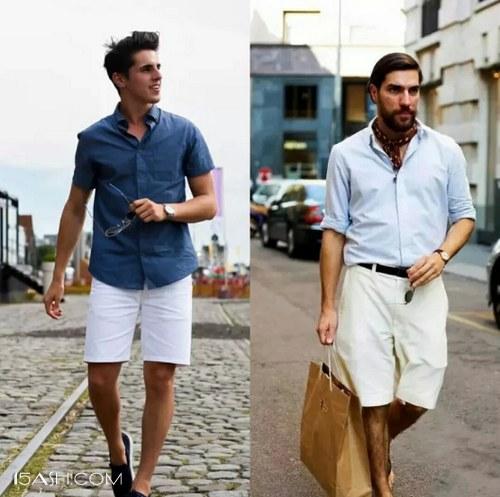 白/米色短裤