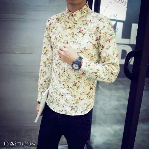 花衬衫+花短裤