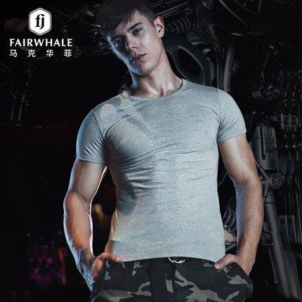 马克华菲男汗衫短袖纯棉T恤
