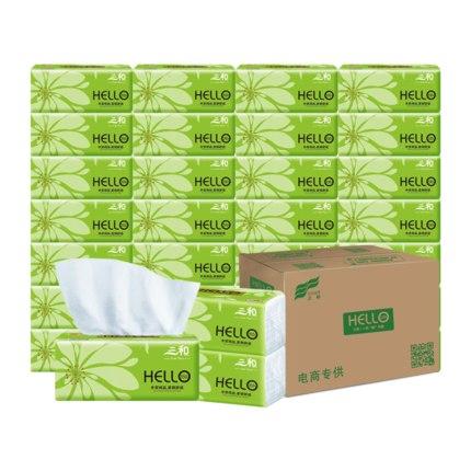 三和原生木餐巾纸抽纸24包