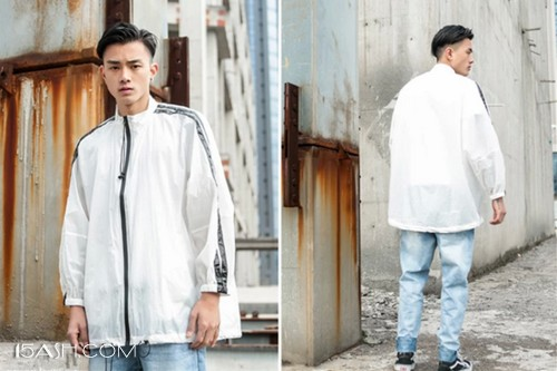 oversize外套+T恤