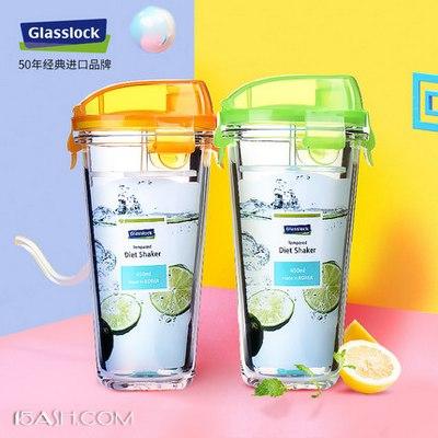 韩国原产 Glasslock 耐热钢化玻璃水杯450ml