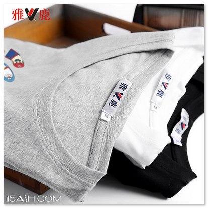 雅鹿男士短袖T恤,纯棉吸汗