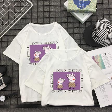 小猪佩奇卡通BF抖音同款短袖,送女友创意萌衫