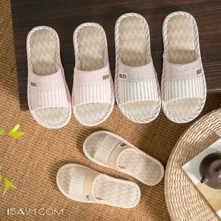 棉麻回力家居亚麻拖鞋,意在享受