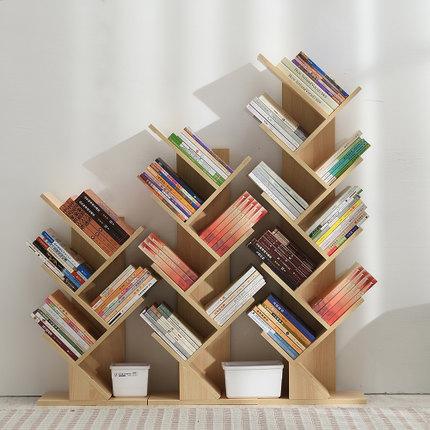 日益红创意简约树形书架,儿童房落地书架