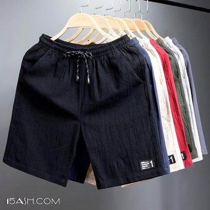 100%纯棉男士宽松沙滩休闲短裤 券后19.9元包邮