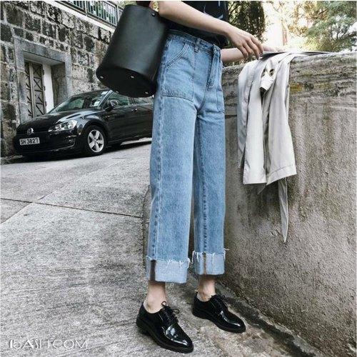 穆勒鞋+牛仔裤