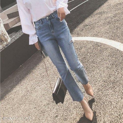乐福鞋+牛仔裤