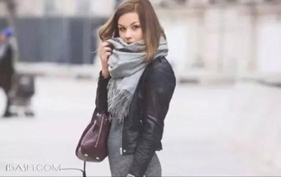 毛衣裙搭配大衣