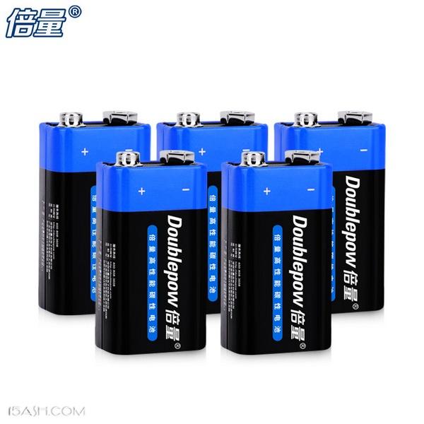 家用必备,倍量9V碳性叠层电池5块