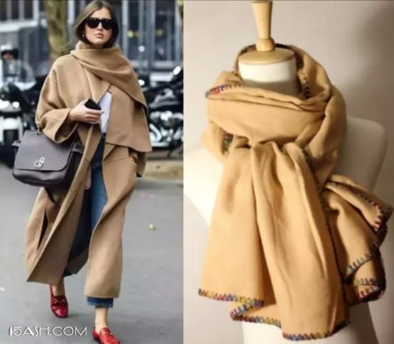 浅驼色围巾
