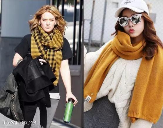 明亮黄围巾